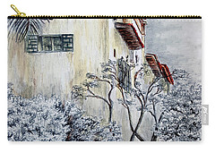 Santa Barbara Courthouse Bell Tower Carry-all Pouch by Danuta Bennett