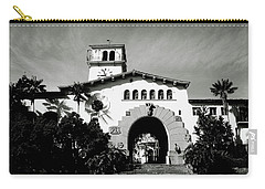 Santa Barbara Courthouse Black And White-by Linda Woods Carry-all Pouch by Linda Woods