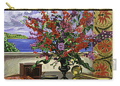 Santa Barbara Floral Carry-all Pouch