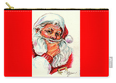 Santa Checking Twice Christmas Image Carry-all Pouch