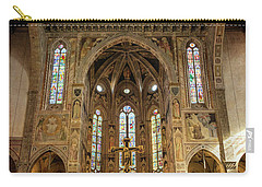 Carry-all Pouch featuring the photograph Santa Croce Florence Italy by Joan Carroll