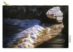 Santa Cruz 'bridge' California Coastline Carry-all Pouch by John A Rodriguez