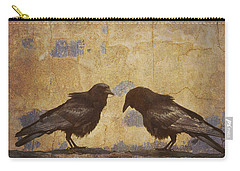 Santa Fe Crows Carry-all Pouch by Carol Leigh