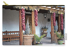 Carry-all Pouch featuring the photograph Santa Fe Red Chili Ristra Porch by Andrea Hazel Ihlefeld