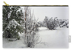 Santa Fe Snowstorm 2017 Carry-all Pouch by Joseph Frank Baraba