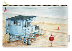 Santa Is On The Beach Carry-all Pouch