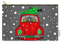 Santa Lane Carry-all Pouch by Kathleen Sartoris