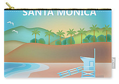 Santa Monica California Horizontal Scene Carry-all Pouch