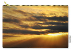 Carry-all Pouch featuring the photograph Santa Monica Golden Hour by Kyle Hanson