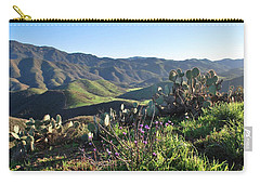 Santa Monica Mountains - Cactus Hillside View Carry-all Pouch
