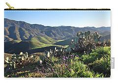 Carry-all Pouch featuring the photograph Santa Monica Mountains - Cactus Hillside View by Matt Harang