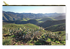 Carry-all Pouch featuring the photograph Santa Monica Mountains - Hills And Cactus by Matt Harang