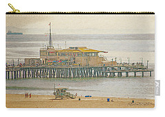 Carry-all Pouch featuring the digital art Santa Monica Pier by Anthony Murphy