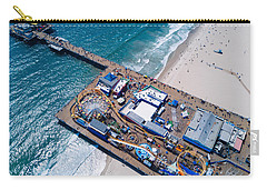 Santa Monica Pier From Above Side Carry-all Pouch