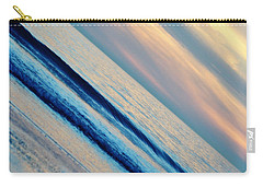 Carry-all Pouch featuring the photograph Santa Monica Sunset by Kyle Hanson