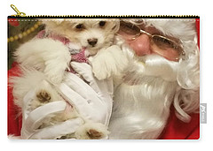 Santa Paws  Carry-all Pouch by Darren Robinson