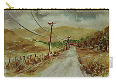 Carry-all Pouch featuring the painting Santa Teresa County Park California Landscape 3 by Xueling Zou