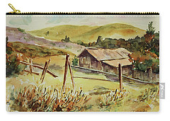 Carry-all Pouch featuring the painting Santa Teresa County Park California Landscape 4 by Xueling Zou