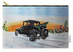 Carry-all Pouch featuring the painting Santas Helper  161207 by Jack G Brauer
