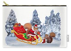 Santa's Little Helper Carry-all Pouch by Glenn Holbrook