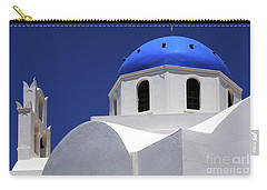 Carry-all Pouch featuring the photograph Santorini Greece Architectual Line 2 by Bob Christopher