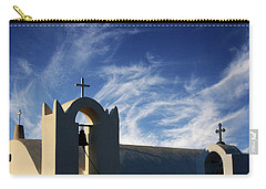 Carry-all Pouch featuring the photograph Santorini Greece Architectual Line 3 by Bob Christopher