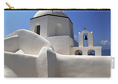 Carry-all Pouch featuring the photograph Santorini Greece Architectual Line 4 by Bob Christopher