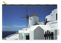Carry-all Pouch featuring the photograph Santorini Greece Architectual Line 5 by Bob Christopher