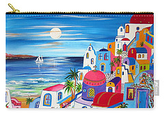 Santorini Moonlight Fantasy  Carry-all Pouch