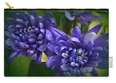 Sapphire Blue Chrysanthemums Carry-all Pouch