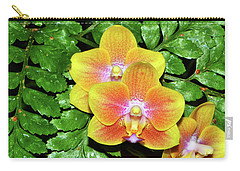 Sara Gold Orchids 003 Carry-all Pouch by George Bostian