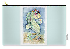 Carry-all Pouch featuring the painting Sarafina Seabling by Lora Serra