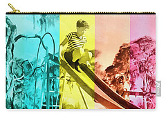 Carry-all Pouch featuring the painting Sarasota Series Trailer Park Playground by Edward Fielding