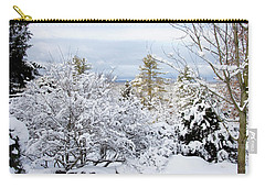 Saratoga Winter Scene Carry-all Pouch by Lise Winne