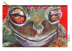 Satisfied Froggy  Carry-all Pouch by Barbara O'Toole