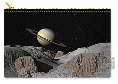 Saturn From The Moon Dione Carry-all Pouch