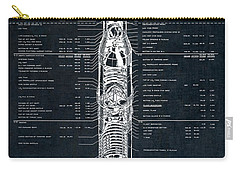 Saturn V Apollo Moon Mission Rocket Blueprint  1967 Carry-all Pouch