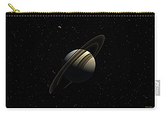 Saturn With Titan Carry-all Pouch