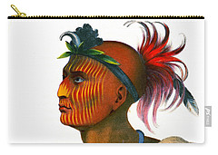 Carry-all Pouch featuring the photograph Sauk Warrior 1842 by Padre Art