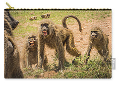 Savanna Baboons 9872 Carry-all Pouch by Janis Knight
