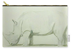 Save A Rhino Carry-all Pouch by Stacy C Bottoms