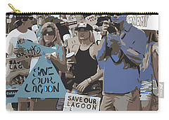 Carry-all Pouch featuring the digital art Save Our Lagoon by Megan Dirsa-DuBois