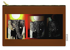 Carry-all Pouch featuring the painting Save Our Precious Elephants  by Hartmut Jager