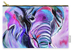 Save The Elephants Carry-all Pouch by Jenny Lee