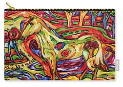 Saved By A Horse Carry-all Pouch by Dianne  Connolly