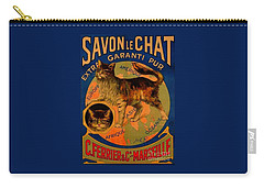 Savon Le Chat Antique French Poster Carry-all Pouch