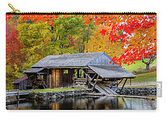 Sawmill Reflection, Autumn In New Hampshire Carry-all Pouch by Betty Denise
