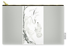Carry-all Pouch featuring the digital art Sax Girl by ReInVintaged