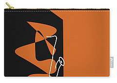 Saxophone In Orange Carry-all Pouch by David Bridburg