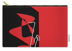 Saxophone In Red Carry-all Pouch by David Bridburg